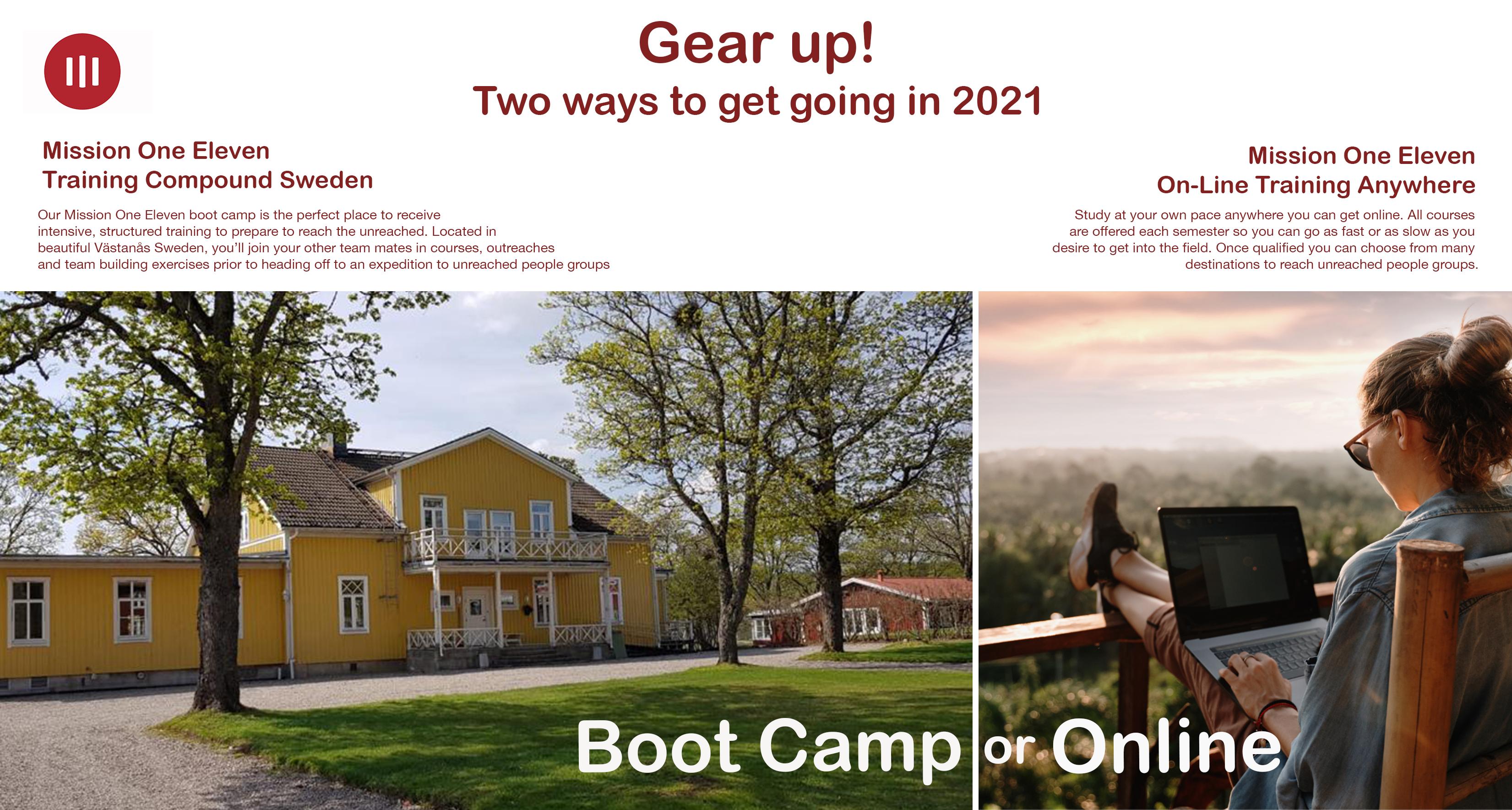 Mission One Eleven's training compund in Sweden or Online.