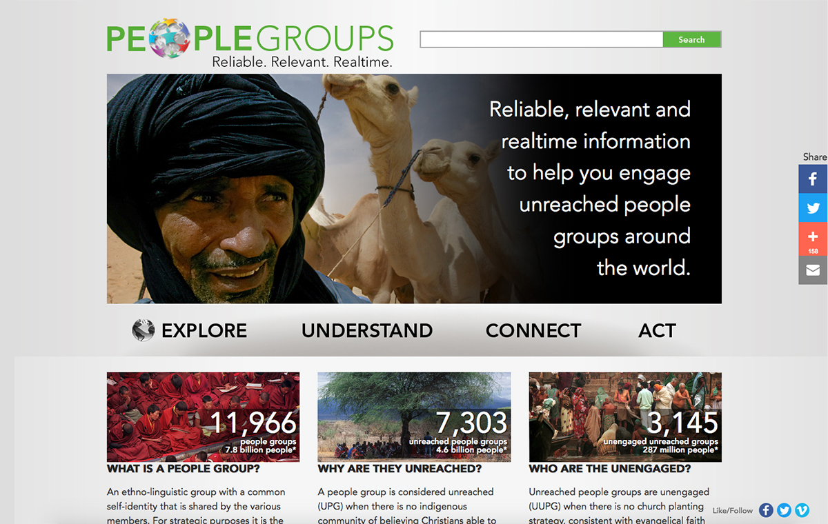 People Groups website preview.