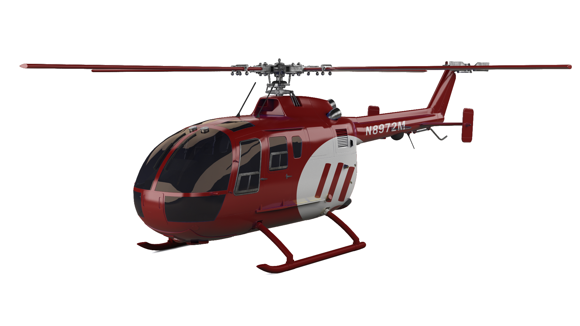 MOE red helicopter.
